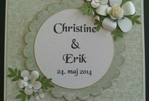 Mine bryllupskort