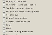 To do - wedding prep