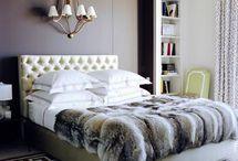 ファーのベッドカバー