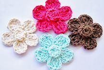 πλέξιμο λουλούδια