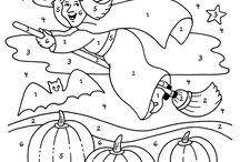 Dessins a numeros d'halloween / Dessins Halloween