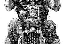 Motos gravuras