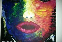 peinture art abstrait acrylique