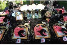 mariage noir blanc doré / mariage rock ,mariage baroque, mariage noir blanc rouge