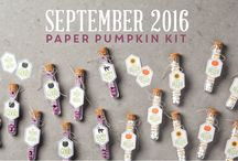 Paper Pumpkin September 2016 - Something Good to Eat / Paper Pumpkin September Projects