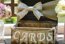burlap card box