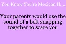 Que pasa me Raza :-) / You know you're Mexican if... / by Lucia Briones
