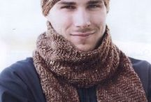 Crochet man scarf