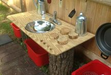 Mud Kitchen and play house