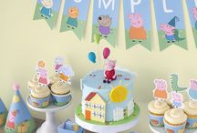 Peppa pig cakes and party