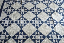 Quilt blue and white