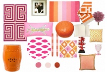 Color Board: Pink and Orange / coral/pink/flamingo/orange