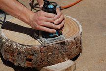 Slice wood table