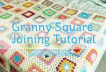 Granny square zusamenhäkeln joining