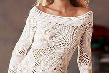 Top/pullover a uncinetto