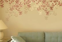 stencil e wall painting