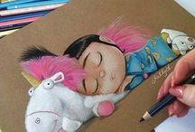 Színes ceruza rajzok