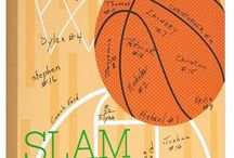 Sports: Basketball / 12x12 canvas that the whole #basketballteam can sign at the end of the season party! Great #sportskeepsake idea for players, #teammoms and coaches!