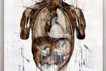 Pregnant Forest / Foresta Gravida / Nunzio Paci  Dim: cm 100x100 Tecnique: pencil, oil, enamel on canvas / matita, olio, smalto su tela Year: 2013