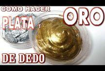 Come fare patina dorata e argento