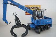 Bouwvoertuigen / Mooie collectie schaalmodellen van voertuigen gebruikt in de bouw en industrie