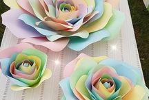 Paper wallflowers