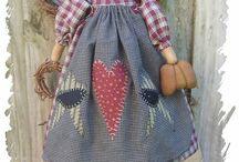 Bonecas de pano country