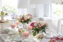 tavola in fiore