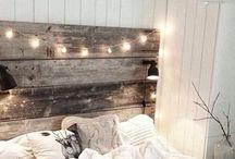 Bed frame for a modern but vintage feel