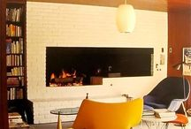 Painted brick fireplaces / by Mercedes Rozon