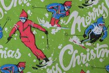 vintage christmas wrapping paper / by reen