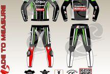 custom made Tom Sykes looking motorbike kawasaki leather suit