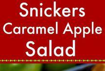 Caramel apples salad