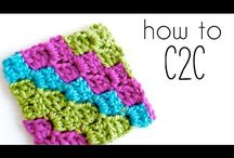 C2C crochet  / Corner to corner crochet: chart and pixel illustration
