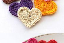 crocheting hearts