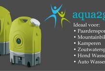 Aqua2Go - Mobiele hogedrukreiniger / Een ideale hogedrukreiniger om bijv. je paard, trailer, mountainbike, of auto mee te wassen als er op de locatie geen stroom of water aanwezig is. Echt superhandig!!