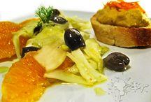 insalata di finocchi con humus