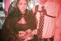 Halloween / Halloween Creepy Lady in Black costume black scleras