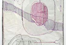 """Fiber """"drawings"""" / by Jennifer Shingelo"""