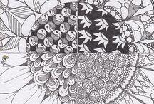 zentangle sunflower