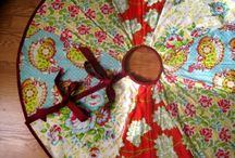 My Christmas Tree flair... / I love my Christmas Tree skirt in one of our three moves this last year.  I must make a new one, just which one?