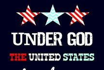 ONE NATION ...  AMERICA / I am proud to be an American.  Sometimes we take these things for granted.  I love my country and feel it is sad what is happening around our world.  We need to keep God in our country and all come together. (one nation...under God)