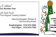 """The """"Crabby Cabbie"""" / Serving Saugeen Shore's, Southampton, Port Elgin, & Sauble Beach in Beautiful Bruce County. 519-373-7000 or 519-379-7700"""