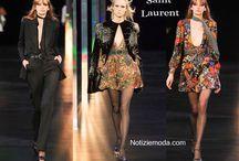 Saint Laurent / Saint Laurent collezione e catalogo primavera estate e autunno inverno abiti abbigliamento accessori scarpe borse sfilata donna.