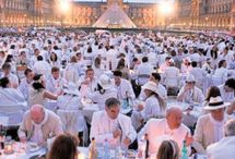"Dîner en Blanc / White Dinner - I duly plan on doing this this summer. If I don't get invited to the ""real deal"", I'll put up a table and have a picnic with my husband in style in my home town. / by Ketutar J."