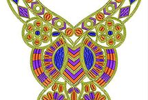 Cording Neck Embroidery Designs