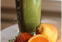 Smoothie vert au poire, orange et sirop d'érable
