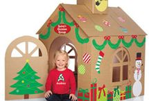 cardboard house kids christmas