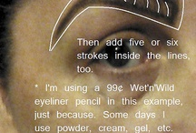 Want Perfect Eyebrows? Here's How. / Tutorial on one of many methods for filling in and shaping your brows.