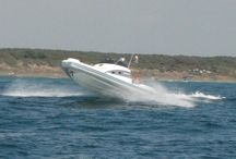 RIB boats / Rigid inflatable boats.